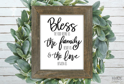 Bless The Food Print - Kmoe Design Co.,  - home decor,  - farmhouse