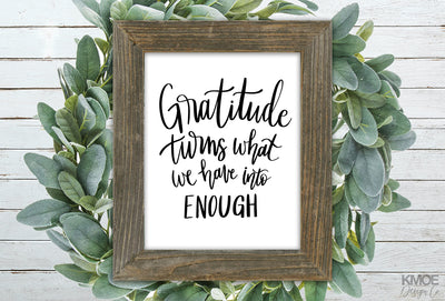 Gratitude Print - Kmoe Design Co.,  - home decor,  - farmhouse