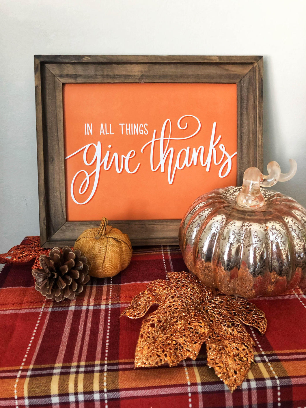 In All Things Give Thanks | Wall Art Print | Kmoe Design Co. Kmoe Design Co.