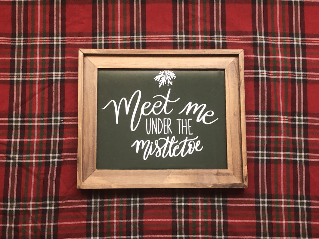 Meet Me Under the Mistletoe Print Kmoe Design Co.