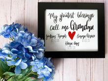 Load image into Gallery viewer, Personalized Grandma Print Kmoe Design Co.