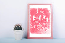 Load image into Gallery viewer, Psalm 139:14 Nursery Print