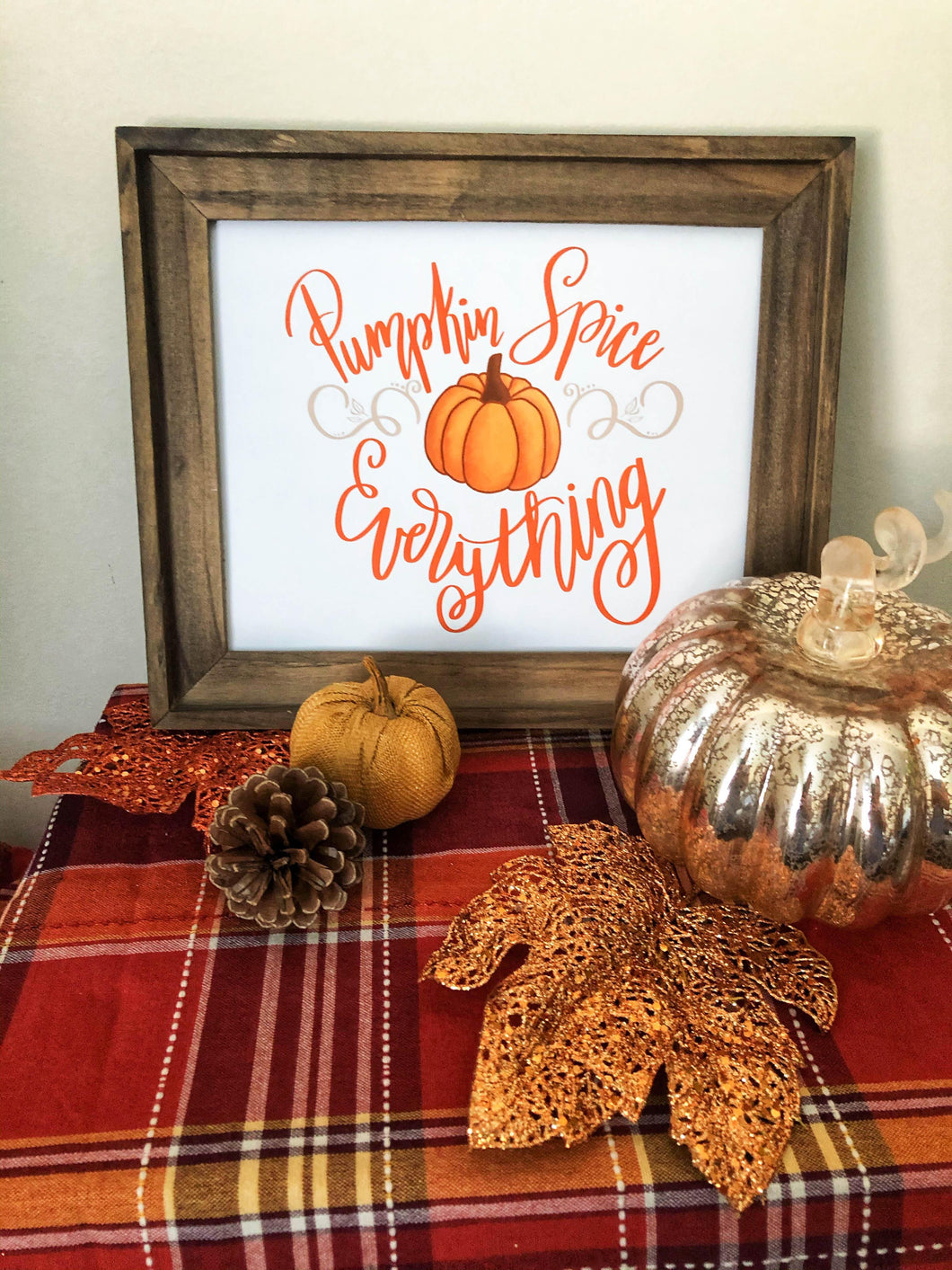 Pumpkin Spice Everything Hand Lettered Print Kmoe Design Co.