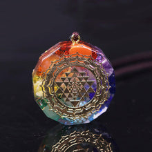 Load image into Gallery viewer, Sacred Sri Yantra Orgonite Chakra Necklace - Inner Manifestation