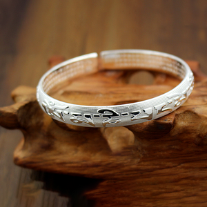 Six Words Mantra Buddhist Couple Bangle - Inner Manifestation
