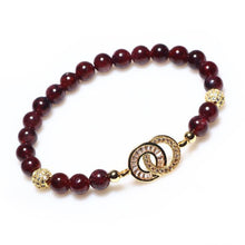 Load image into Gallery viewer, Natural Garnet Charm Bracelet - Limited Edition - Inner Manifestation