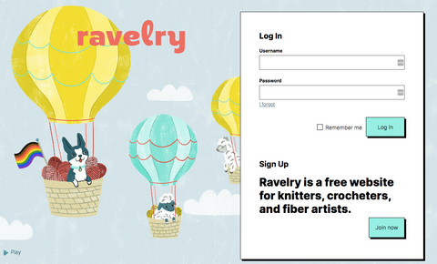 Ravelry home page