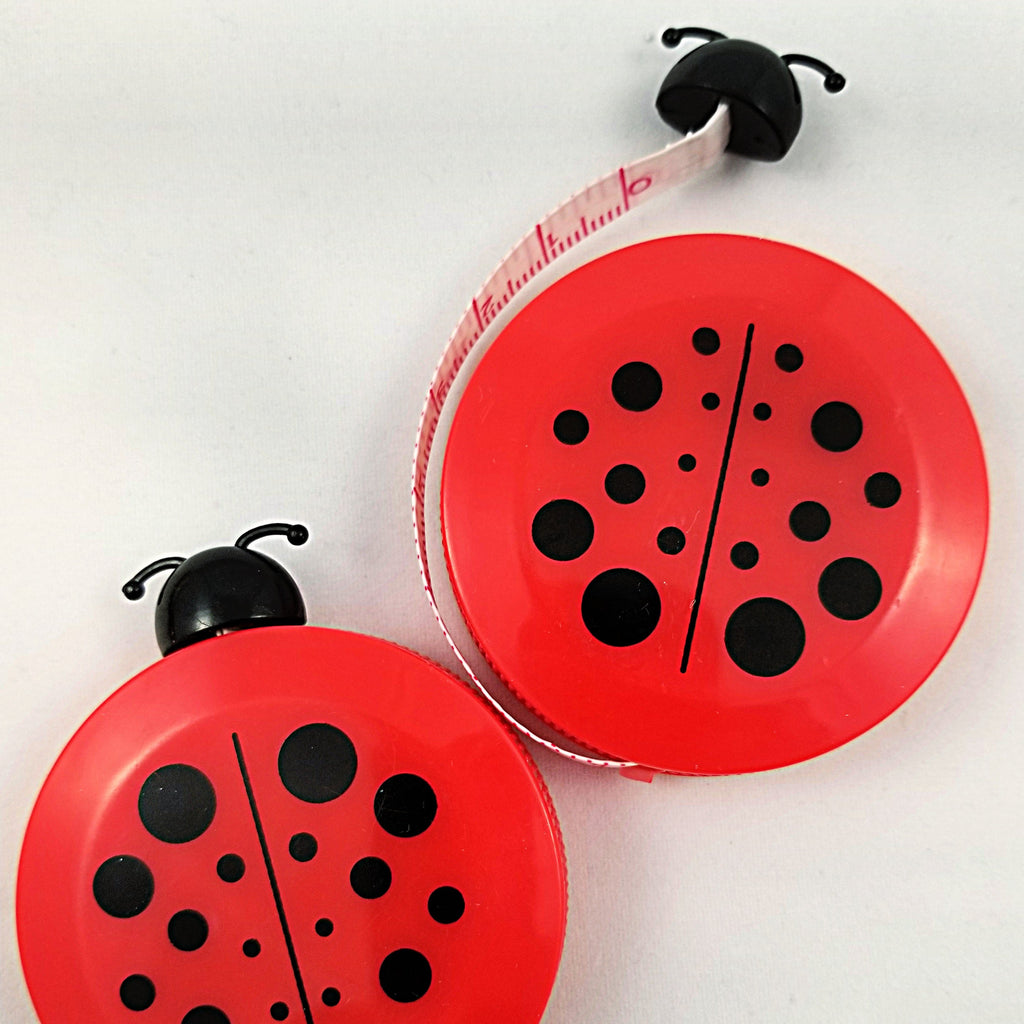 Cute, red tape measure shaped like a ladybug