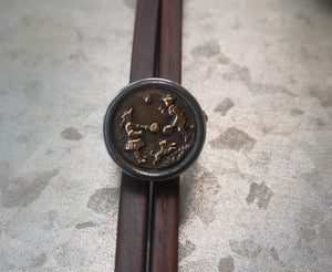 Antique Button Ring Made in USA