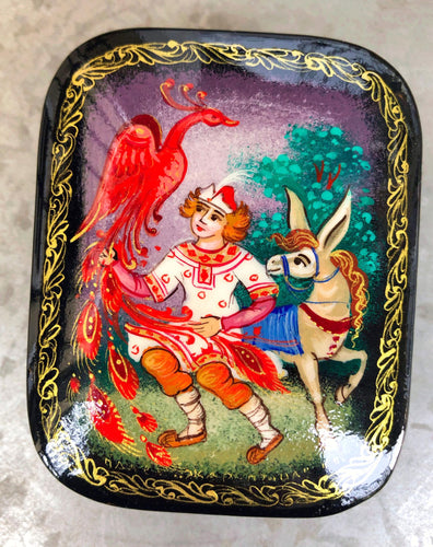 Russian Lacquer Box The Humpbacked Pony