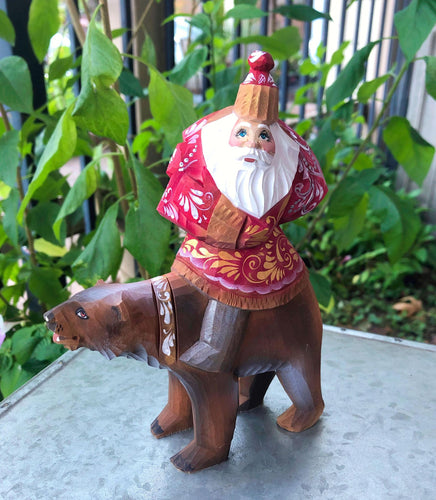 Carved Russian Santa