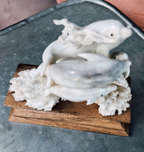 Load image into Gallery viewer, Hand Carved Bone Dolphins