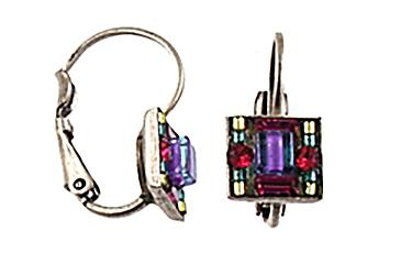 Firefly Jewelry Earrings, Multi Color Square Leaver back