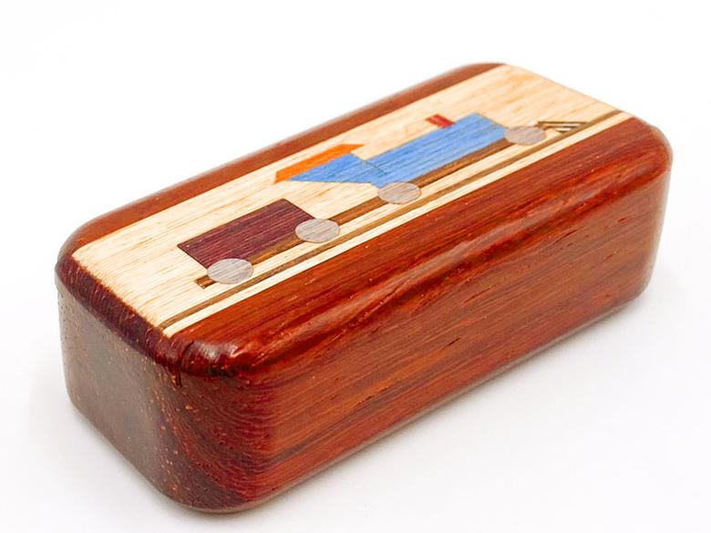 Heartwood Creations Padauk Train Inlay Box