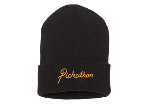 Embroidered Beanie - Black