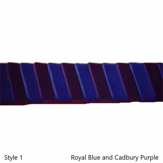 Ribbon Browbands, Stripe, Velvet