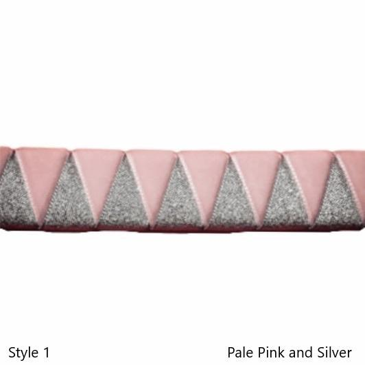Ribbon Browbands, Shark tooth, Metallic, Velvet