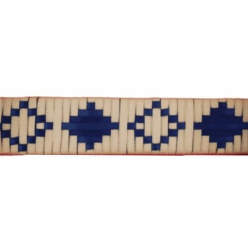 Ribbon Browband, Checkerboard with Diamond Shapes