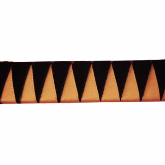 Ribbon Browband, Shark tooth, Orange, Black