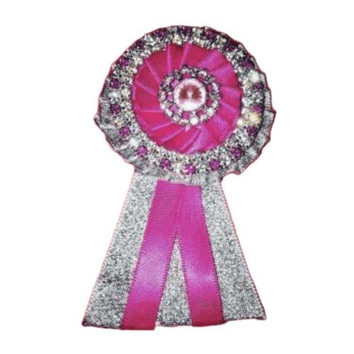 Removable Rosettes, Fuchsia, Silver