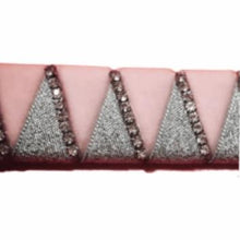 Load image into Gallery viewer, Ribbon Browband, Shark tooth, Pink, Silver