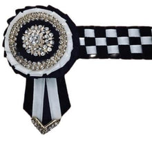 Load image into Gallery viewer, Show Browband, Checkerboard, Black and White