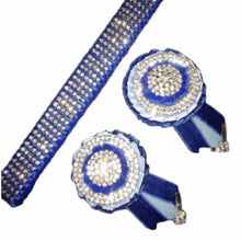 Load image into Gallery viewer, Show Browband, Crystal, Blue