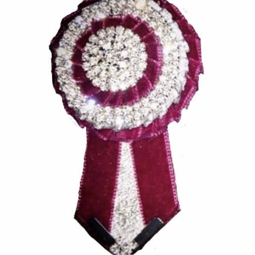 Removable Rosettes, Wine, Silver