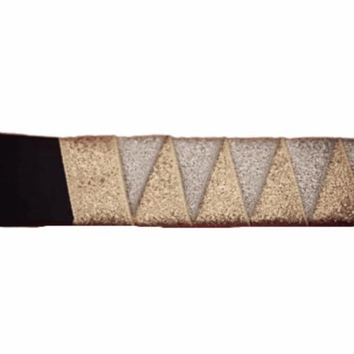 Ribbon Browband, Shark tooth, Metallic