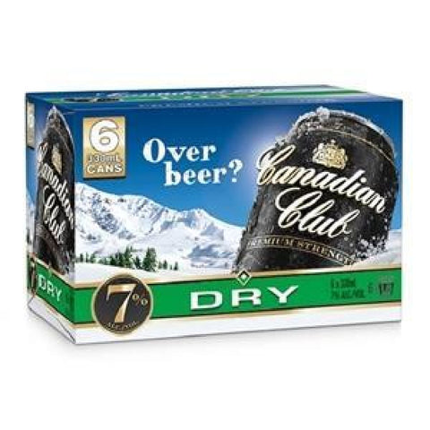 CANADIAN CLUB N DRY 7% 6PK CANS 330ML - Liquor Mart online gifts NZ