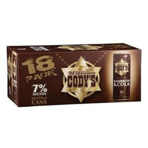 CODYS 7% 18PK CANS 250ML - Rtds