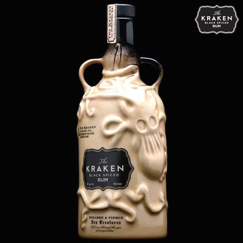 Kraken Black Spiced Rum Ceramic 40%, 700ml- 2015 Edition (Cream)