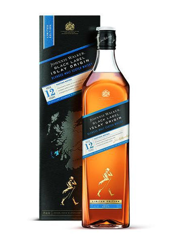 Johnnie Walker Black label Whisky Islay 12yo, 1Lt