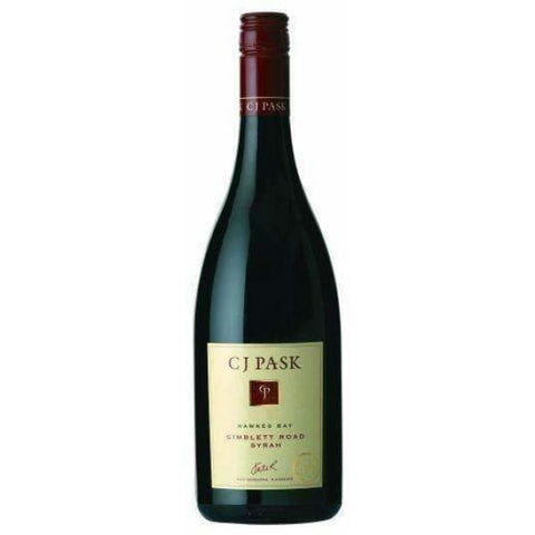 C J Pask Gimblett Road Syrah 750ml - Liquor Mart online gifts NZ