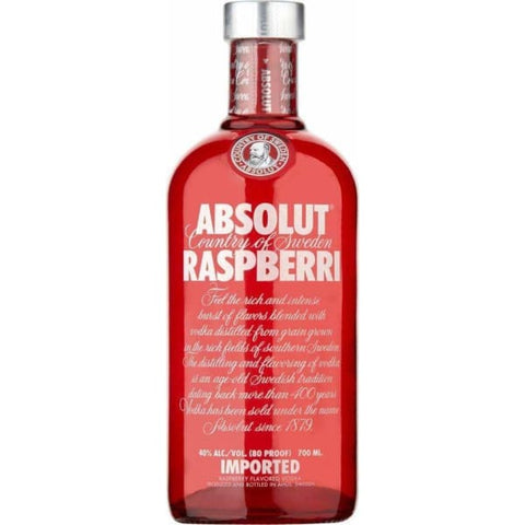 ABSOLUT VODKA RASPBERY NZ 700ML - Liquor Mart online gifts NZ