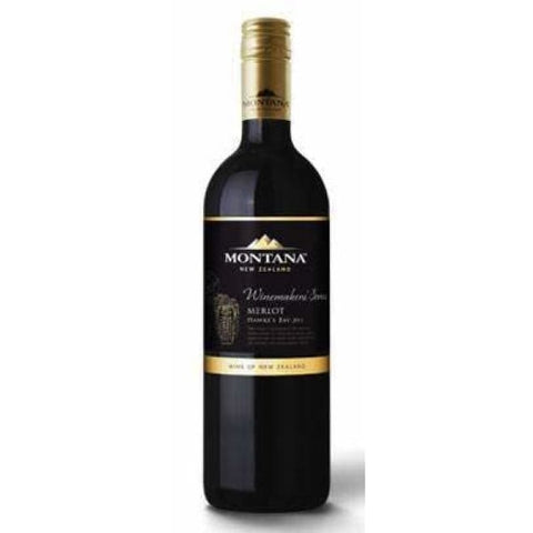 Montana Winemakers Hawkes Bay Merlot 750ml - Liquor Mart online gifts NZ