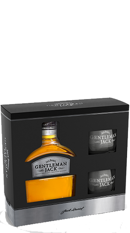 Gentleman Jack Gift Box 700ml Plus 2 glass gift box - Liquor Mart