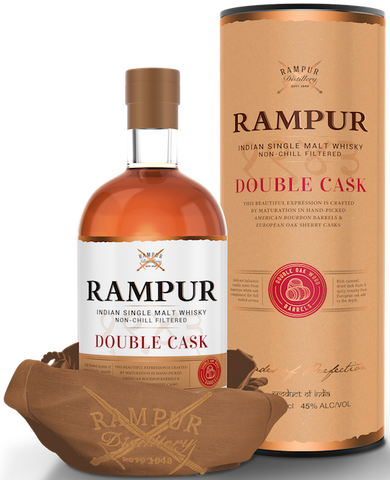 RAMPUR SINGLE MALT DOUBLE CASK WHISKY  750ML