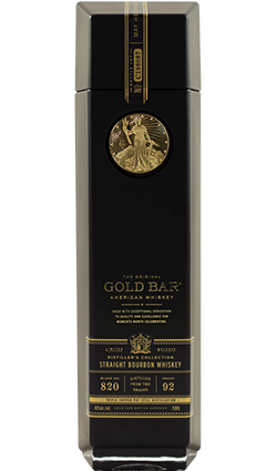Gold Bar Bourbon Double Cask 750ml 46% (black bottle)