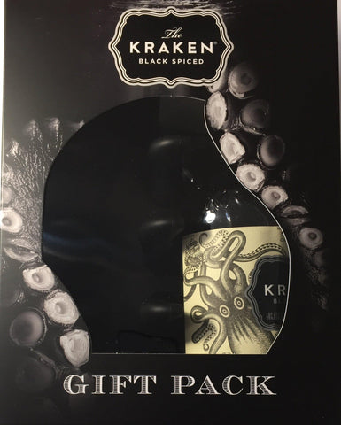 Kraken Black Spiced Rum 40%, 700ml Ice Tray GIFT PACK
