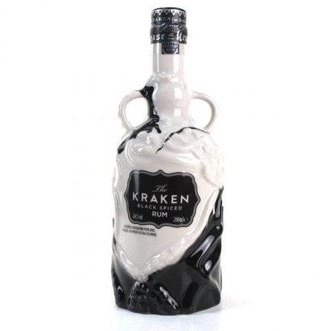 Kraken Black Spiced Rum Ceramic 40%, 700ml- 2017 Edition (Black and White)