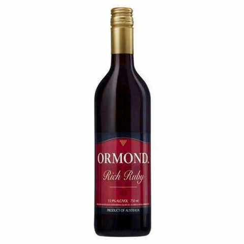 ORMOND RICH RUBY 750ML - Liquor Mart online gifts NZ