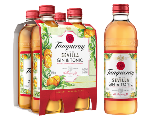 Tanqueray Flor De Sevilla 4 PACK Bottle
