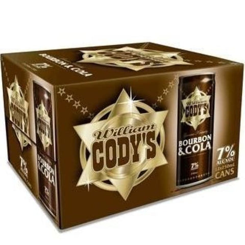 CODYS 7% 12PK CANS 250ML - Rtds