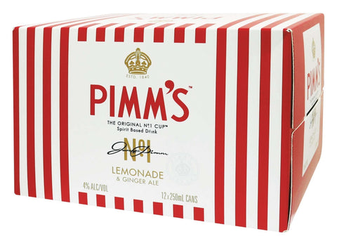 Pimms Lemonade And Ginger Ale 4% 250ml Cans