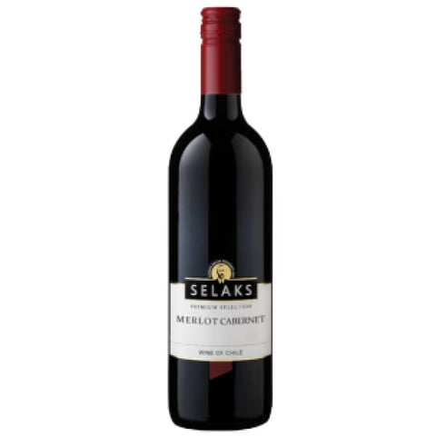 Selaks Premium Selection Merlot Cab 750ml - Liquor Mart online gifts NZ