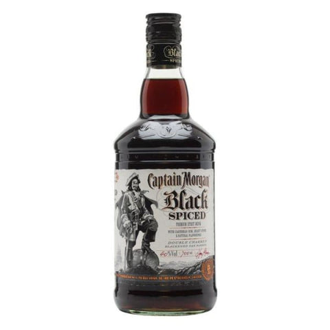 Captain Morgan Black Spiced Rum 40% 1Ltr - Dark Rum