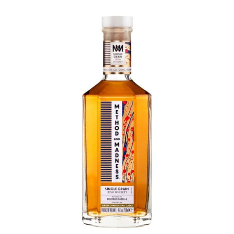 METHOD & MADNESS SINGLE GRAIN IRISH WHISKEY 700ml - Whiskey