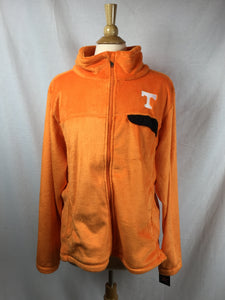 Tenn Fuzzy Orange Fleece Jkt/w Black Snap Pocket