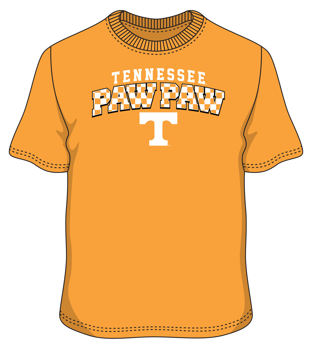S/S TN Paw Paw Checkered Orange Tee